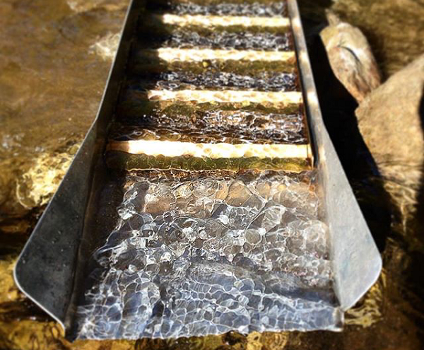 Gold Prospecting with a Sluice Box